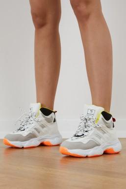 Tonny Black - Tonny Black Beyaz Gri Kadın Spor Ayakkabı Tbself1