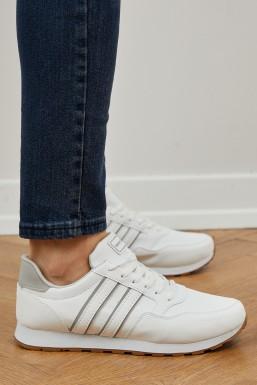 Tonny Black - Tonny Black Beyaz Gümüş Unısex Spor Ayakkabı Tb077