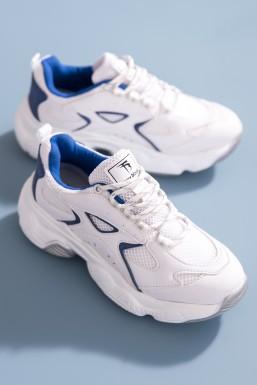 Tonny Black - Tonny Black Beyaz Mavi Kadın Spor Ayakkabı Tb288