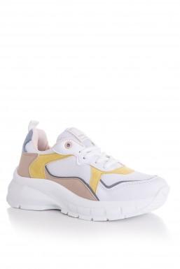 Tonny Black - Tonny Black Beyaz Sarı Bayan Spor Ayakkabı Tb287 TB287-1_207
