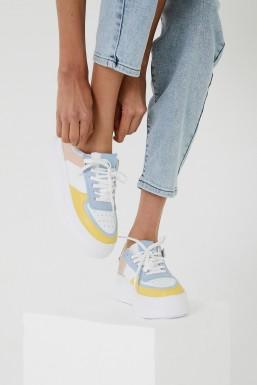 Tonny Black - Tonny Black Beyaz Sarı Kadın Spor Ayakkabı Tbzna TBZNA-1_207