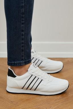 Tonny Black - Tonny Black Beyaz Siyah Unısex Spor Ayakkabı Tb077