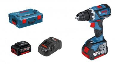 Bosch Profesyonel Seri - Bosch Professional GSR 18V-60 C 5 Ah Çift Akülü Delme/Vidalama - L-boxx Çantalı