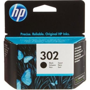 Hp - Hp 302 Siyah Mürekkep Kartuşu F6U66AE