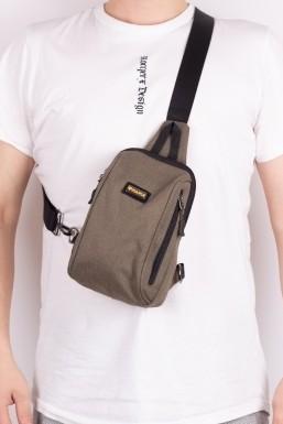 Tonny Black - Tonny Black Kahve Unisex Önden 2 Fermuarlı USB ve Kulaklık Çıkışlı Badibag Çanta Tbc135 TBC135-1_111