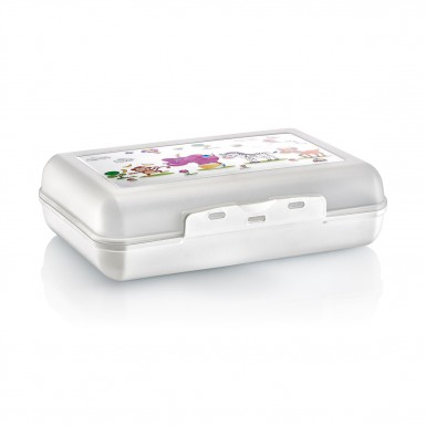 Plastart - Plastart 2 Adet Beyaz Lunch Box Fırsat Seti - 1.1 Litre