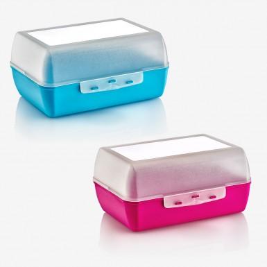 Plastart - Plastart Lunch Box İkili Set 2 Litre - Pembe ve Mavi