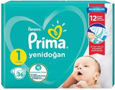 Prima - Prima Bebek Bezi Aktif Bebek 1 Beden 36 Adet İkiz Paket
