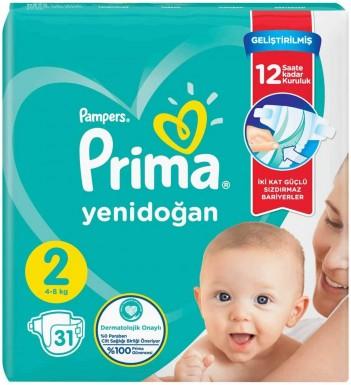 Prima - Prima Bebek Bezi Aktif Bebek 2 Beden 31 Adet İkiz Paket