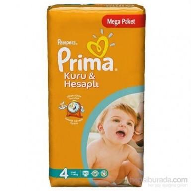 Prima - Prima Bebek Bezi Kuru ve Hesaplı 4 Beden 50 Adet Maxi Mega Paket