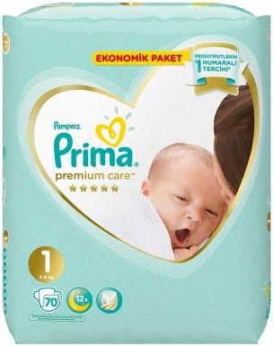 Prima - Prima Bebek Bezi Premium Care 1 Beden 70 Adet Yenidoğan Jumbo Paket