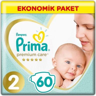 Prima - Prima Bebek Bezi Premium Care 2 Beden 60 Adet Mini Jumbo Paket