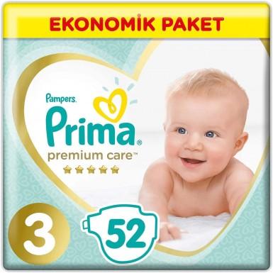 Prima - Prima Bebek Bezi Premium Care 3 Beden 52 Adet Midi Jumbo Paket