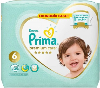 Prima - Prima Bebek Bezi Premium Care 6 Beden 35 Adet Ekstra Large Ekonomik Paket