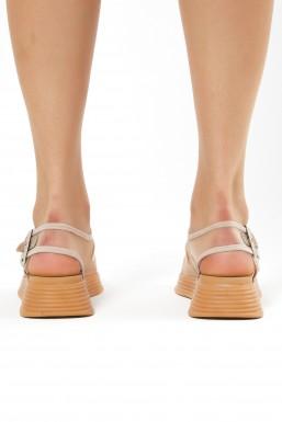 Tonny Black - Tonny Black Pudra Kadın Sandalet Tb504