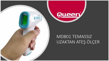Queen MD 801 Uzaktan Ateş Ölçer Alından Temassız Infrared Kızılötesi Termometre - Thumbnail