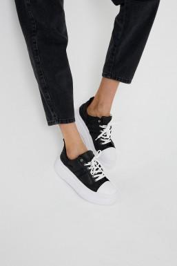 Tonny Black - Tonny Black Siyah Beyaz Kadın Spor Ayakkabı Tbznp TBZNP-1_295