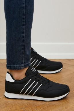 Tonny Black - Tonny Black Siyah Beyaz Unısex Spor Ayakkabı Tb077