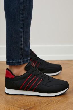 Tonny Black - Tonny Black Siyah Kırmızı Unısex Spor Ayakkabı Tb077