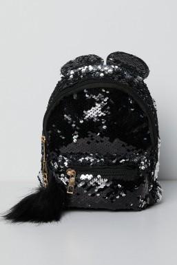 Tonny Black - Tonny Black Siyah Pullu Ponpon Detaylı Çoçuk Çantası TBC63 TBC63-3_101