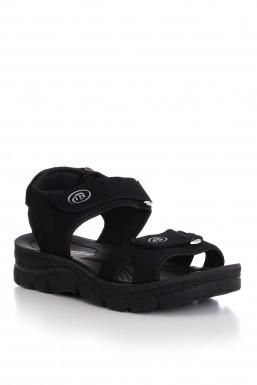 Tonny Black - Tonny Black Siyah Süet Unısex Sandalet Terlik 98058 98058-0_321