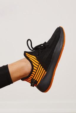Tonny Black - Siyah Turuncu Unısex Spor Ayakkabı Tbadd