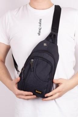 Tonny Black - Tonny Black Siyah Unisex Kaliteli Kumaş USB ve Kulaklık Çıkışlı Badibag Çanta Tbc134 TBC134-1_101