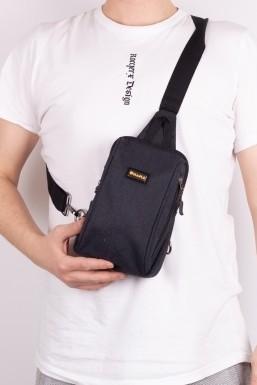 Tonny Black - Tonny Black Siyah Unisex Önden 2 Fermuarlı USB ve Kulaklık Çıkışlı Badibag Çanta Tbc135 TBC135-1_101