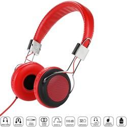 --- - Vivanco 34880-Street Style X-Bass Kulaklık-Kırmızı